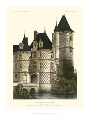 Petite French Chateaux XII poster print by Victor Petit