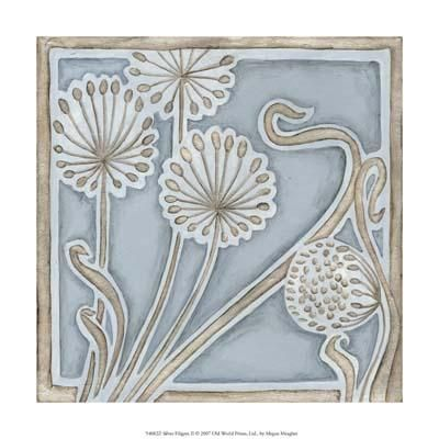 Silver Filigree II poster print by Megan Meagher