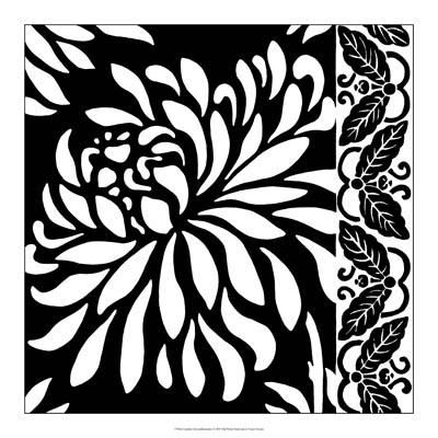 Graphic Chrysanthemums I poster print by Nancy Slocum