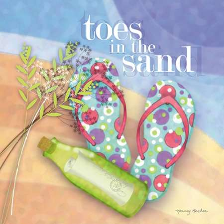 Toes in the Sand poster print by Nancy Archer