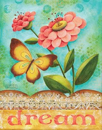 Dream Flowers poster print by Karla Dornacher