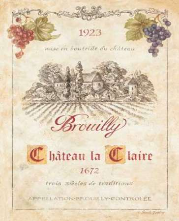 Brouilly poster print by Pamela Gladding