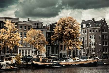 Amsterdam Autumn Colors poster print by Erin Berzel