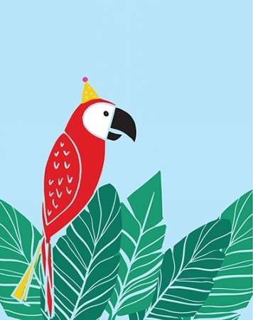 Tropical Bird I poster print by Isabel Serna