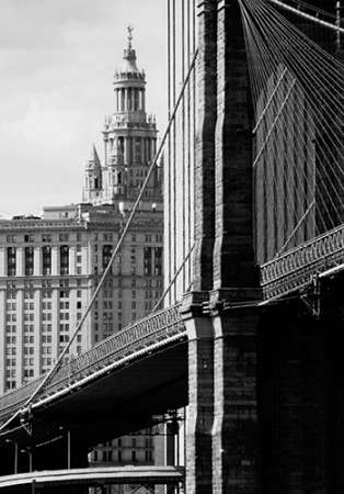 Brooklyn Bridge and Civic Center poster print by Jeff Pica