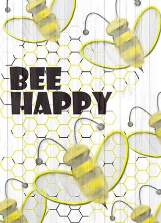 Bee Happy poster print by Kimberly Allen