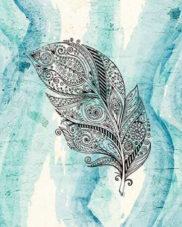 Henna Feather 1 poster print by Kimberly Allen