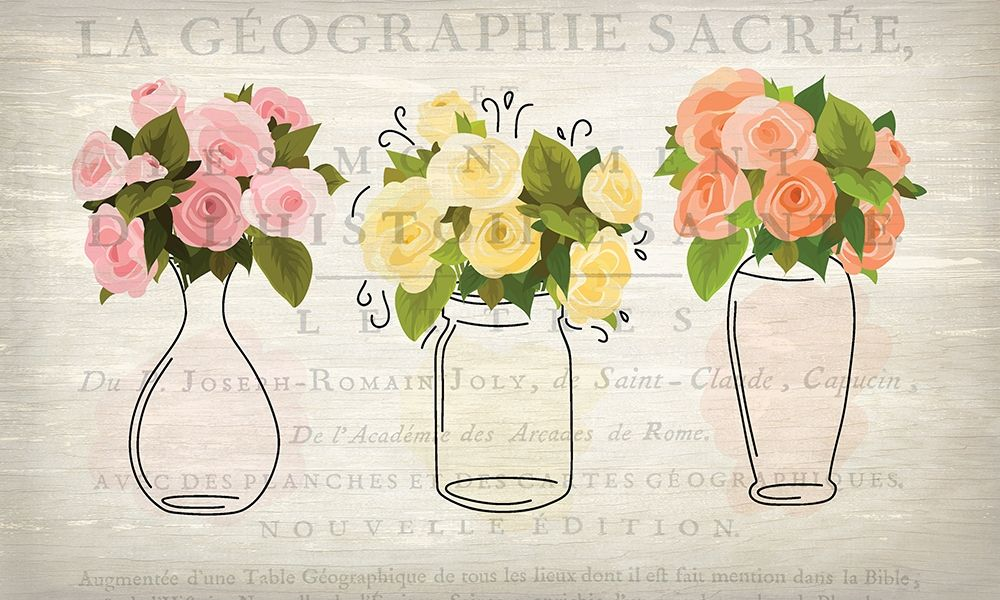 3 Vases poster print by Allen Kimberly