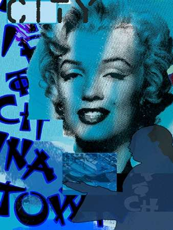 Marilyn in China Town poster print by Marilu Windvand