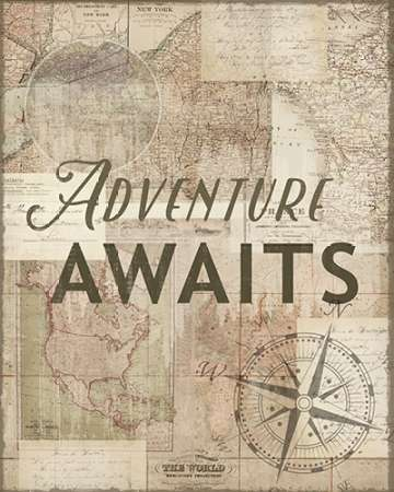 Adventure Awaits Recolor poster print by Candace Allen