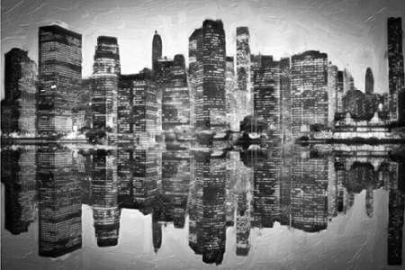 Abstract Skyline BW poster print by Taylor Greene