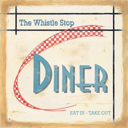 Whistle Stop Diner poster print by Lisa Alderson