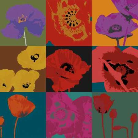 Pop Poppies poster print by Don Li-Leger