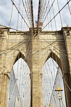 Brooklyn Bridge poster print by Alan Blaustein
