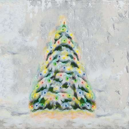 Jolly Christmas Tree poster print by Tiffany Hakimipour