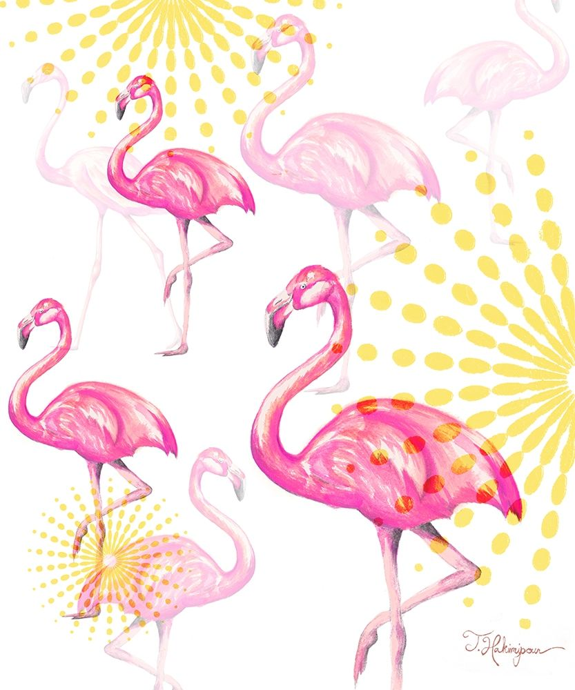 A Vision Of Flamingoes poster print by Tiffany Hakimipour