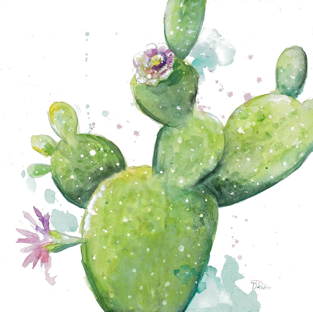 Cactus in Bloom poster print by Patricia Pinto