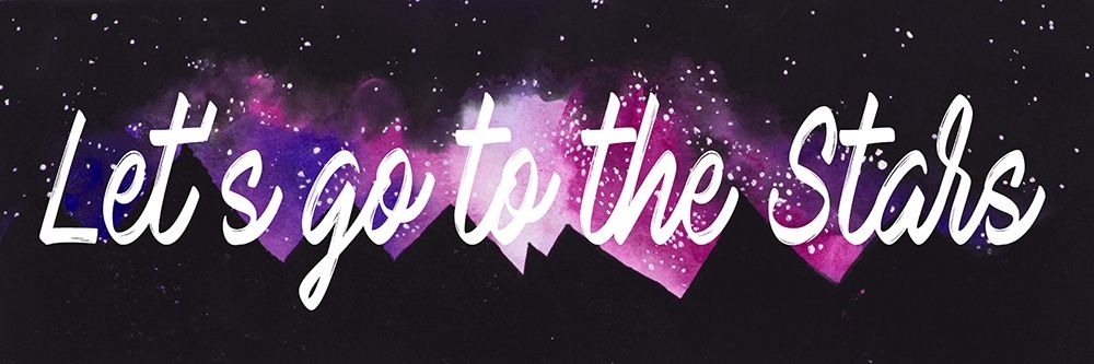 Lets Go To The Stars poster print by Amaya Bucheli