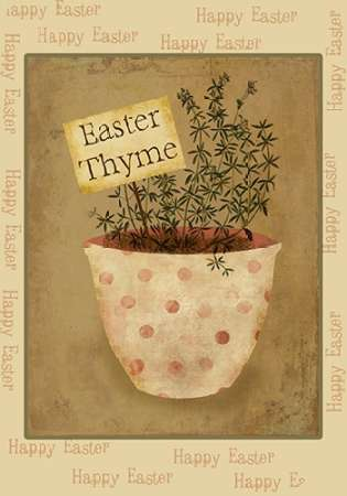 Easter Thyme poster print by Beth Albert