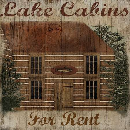 Lake Cabin poster print by Beth Albert