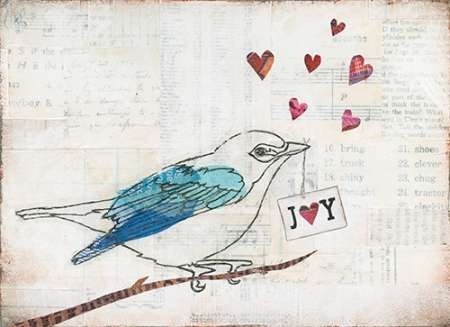 Love Birds I poster print by Courtney Prahl
