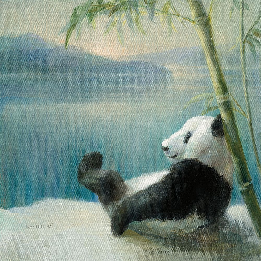 Resting in Bamboo poster print by Danhui Nai