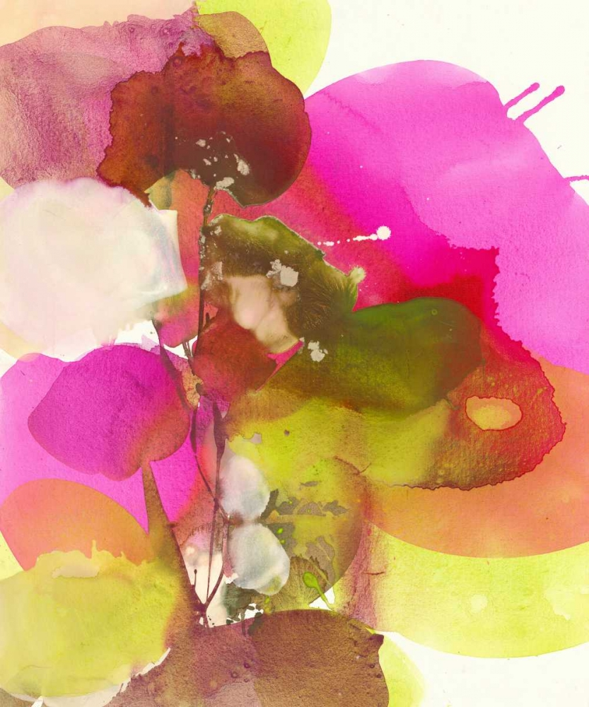 Blossoms Abstracts poster print by El Witt