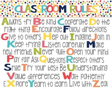 Classroom Rules poster print by Alli Rogosich