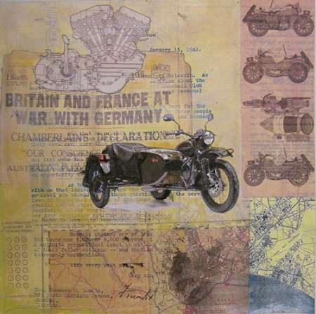 WWII Motorcycle poster print by Andrew Sullivan