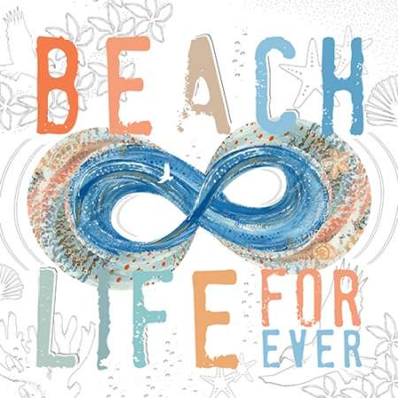 Beach Life poster print by  Longfellow Designs