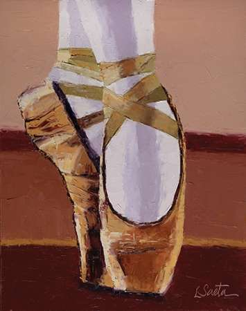 Ballet shoes poster print by Leslie Saeta