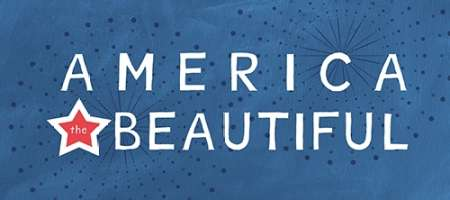 America the Beautiful poster print by Linda Woods