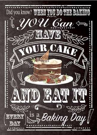 Have Your Cake poster print by  P.S. Art Studios
