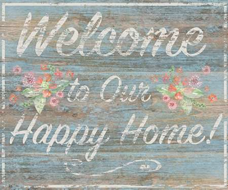 Happy Home poster print by  P.S. Art Studios