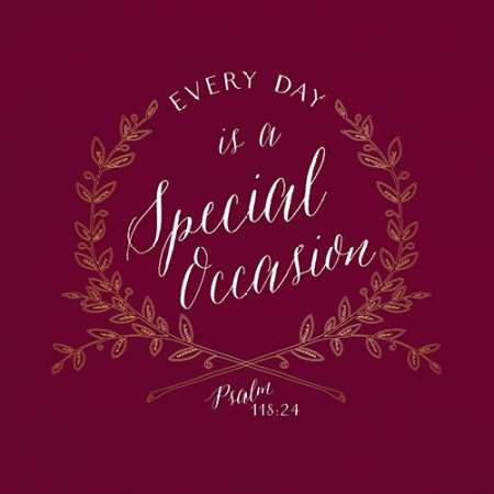 Every Day is a Special Occasion poster print by Tammy Apple