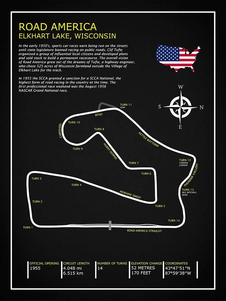 Road America BL poster print by Mark Rogan