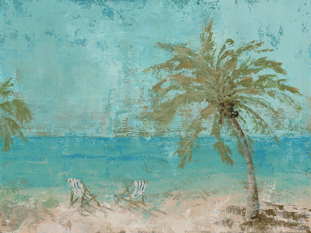 Beach Day Landscape I poster print by Marie Elaine Cusson