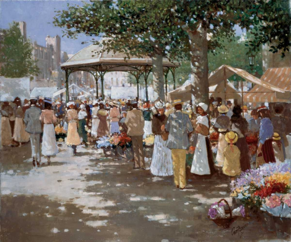 Old Market place I poster print by Carel van Rooijen