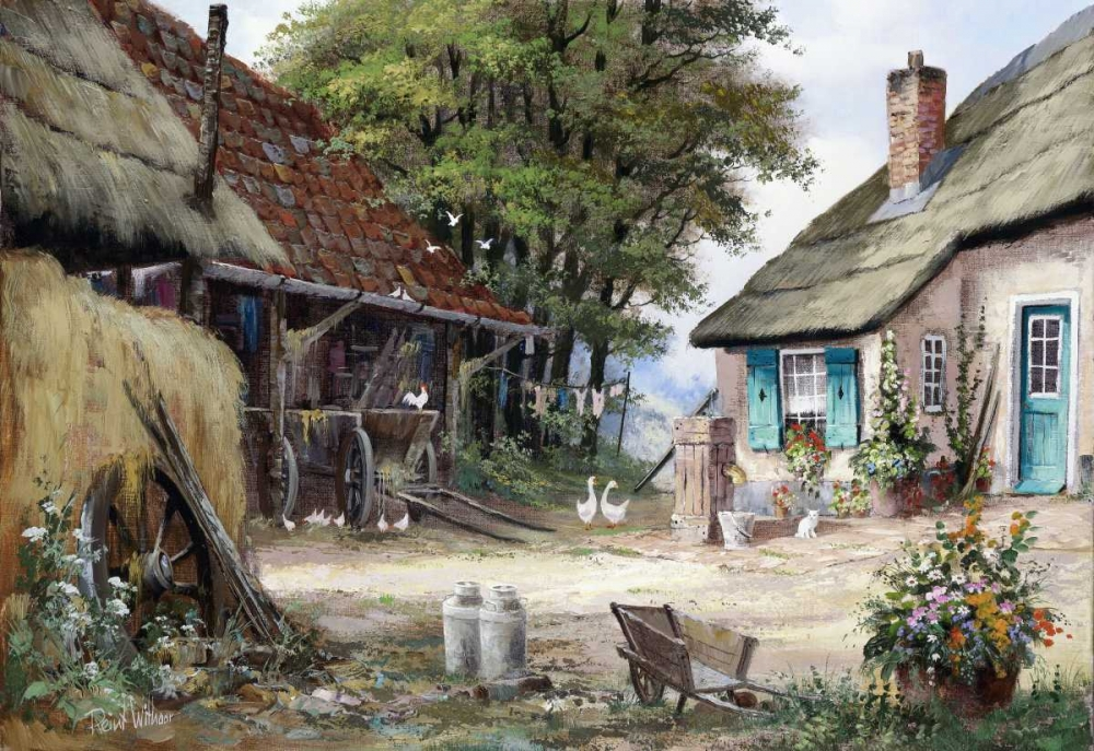 Dutch country scene poster print by Reint Withaar