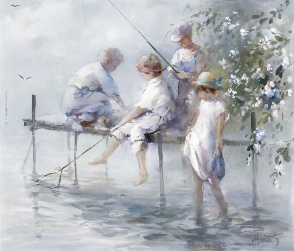 Fishing fun poster print by Willem Haenraets