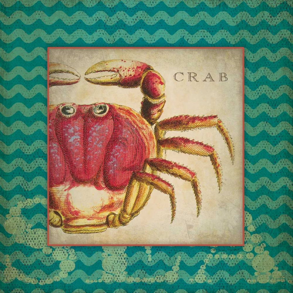 Crab poster print by Stephanie Marrott