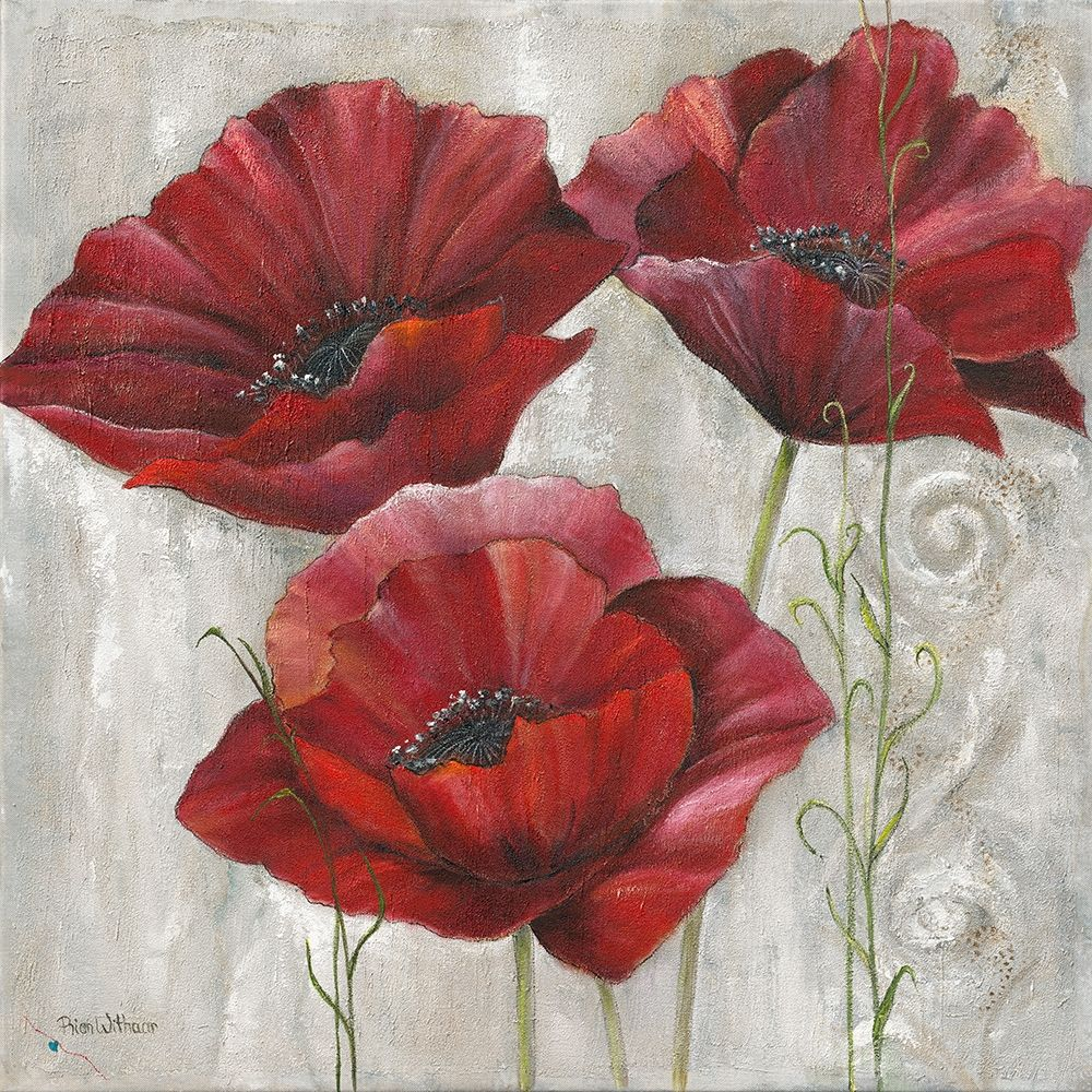THREE POPPIES II poster print by Rian Withaar