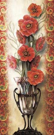 Paisley Poppy poster print by Alma Lee