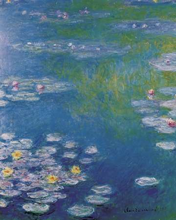Waterlilies at Giverny poster print by Claude Monet