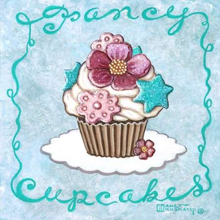 Fancy Cupcakes poster print by Janet Kruskamp
