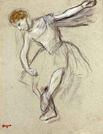 A Dancer Seen In Profile poster print by Edgar Degas