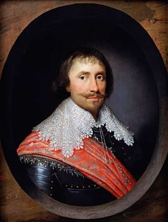 Portrait of Robert De Vere, The 19th Earl of Oxford poster print by Cornelius Johnson