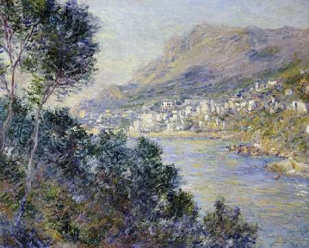 A View of Cape Martin, Monte Carlo poster print by Claude Monet