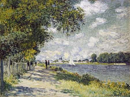 The Seine at Argenteuil poster print by Claude Monet