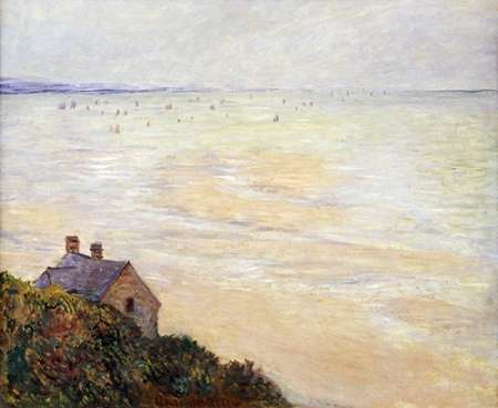 The Hut at Trouville; Low Tide poster print by Claude Monet